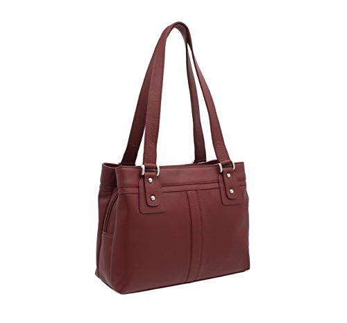 Red M Visconti Clara Shoulder Bag Visconti Clara 19476 Leather q7T8T