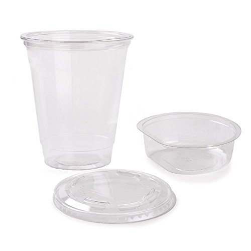 Cups Snack 3 (Pack of 25 Clear Plastic Parfait Cup 12 oz with Insert and Flat Lid w/ FDL Party Picks)