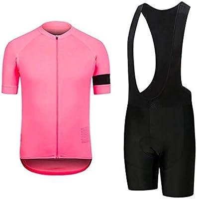 Moxilyn Ropa de Ciclismo para Hombre Traje de Bicicleta Conjunto de Verano Top Almohadilla de Asiento de Gel 9D para Montar En Bicicleta Conjunto C/ómodo y De Secado R/ápido Bib Shorts Acolchados