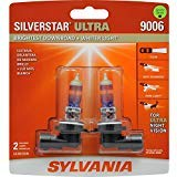 SYLVANIA - 9006 SilverStar Ultra - High Performance Halogen Headlight Bulb, High Beam, Low Beam and Fog Replacement Bulb, Brightest Downroad with Whiter Light, Tri-Band Technology (Contains 2 Bulbs) 2002 Lincoln Ls Replacement