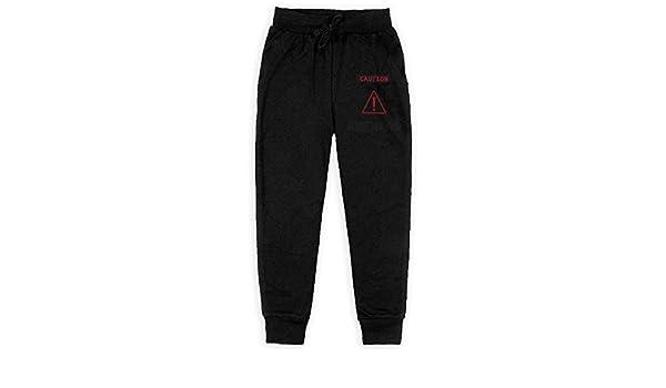 Vikings Mjolnir and Rune Wheel Norse Mythology Symbol Boys Sweatpants,Joggers Sport Training Pants Trousers Black