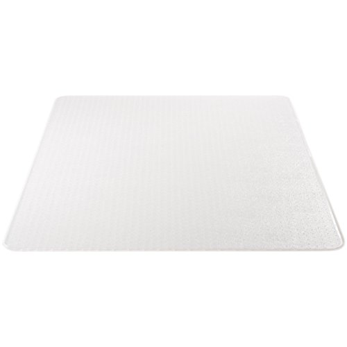 Supermat Vinyl (Deflecto SuperMat Clear Chair Mat, Medium Pile Carpet Use, Rectangle, Beveled Edge, 46 x 60 Inches (CM14443FCOM))