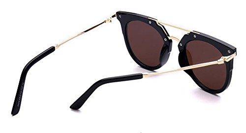 rond polarisées retro vintage cercle du style lunettes Film en inspirées Lennon de Bleu soleil métallique EY4wxq7Z