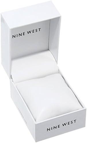 Nine West Women's NW/1932BKRG Matte Black Rubberized Bracelet Watch 3