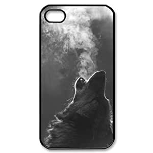 Your own custom Wolf iPhone 4 / 4S, personalized Wolf Iphone 4 Cases by runtopwell