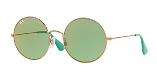 Ray Ban Womens Metal Woman Round Sunglasses  Shiny Copper  55 Mm