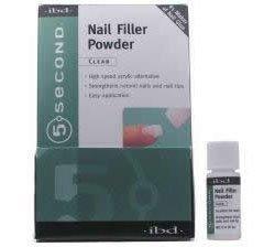 IBD 5 Second Nail Filler Powder- Clear 4g Bottle by IBD (Powder Ibd 5 Second Filler)