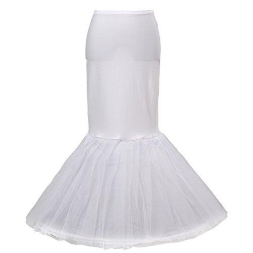 unica HIMRY Fishtail Sottogonna Crinolina KXB cerchio 2 0020 Bianco sirena Taglia strati Petticoat sottoveste di 1 7r7q5zwxd