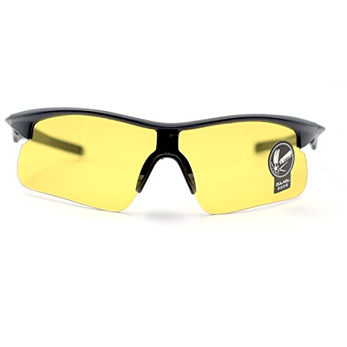 XINMADE Night View / Vision Polarized Glasses, Anti-Glare HD Glasses for safe Driving, Riding Protection Goggles, Driver's Sunglasses, Enhanced Vision, Light weight (Yellow (Anti Glare Driving Glasses)