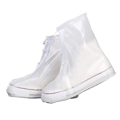 Waterproof Shoes Cover, Rain Snow Women Men Boots Covers, Reusable, Washable, Slip Resistant Shoe Covers for Travel, Gardening, Cycling, Fishing, Camping, Daily Wear M