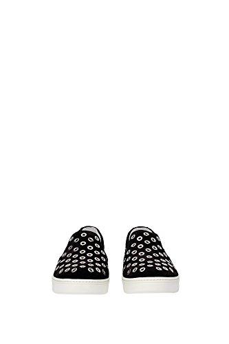 Pantoufle Prada Femme Chamois Noir et Argent 3S6159NEROBIANCO Noir 35EU