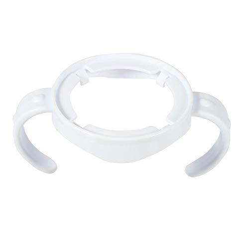 Pack of 10 Baby Feeding Nursing Bottle Holders Easy Grip Standard Plastic Handle for for Avent Natural Series White