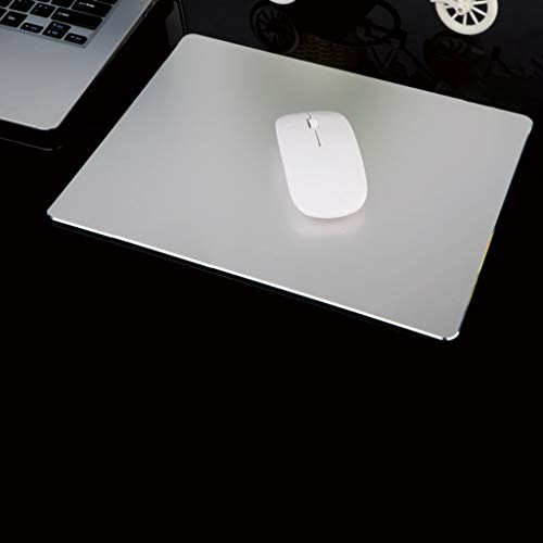 Finedayqi ❤ Metal Aluminum Mouse Pad Mat Smooth Magic Ultra Thin Double Side Mouse Mat (Gray)