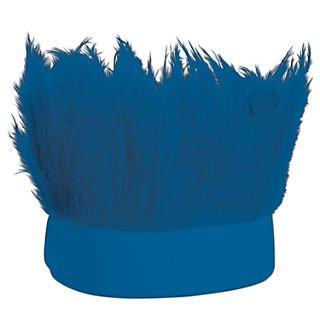 Beistle Adjustable Hairy Headband; Blue