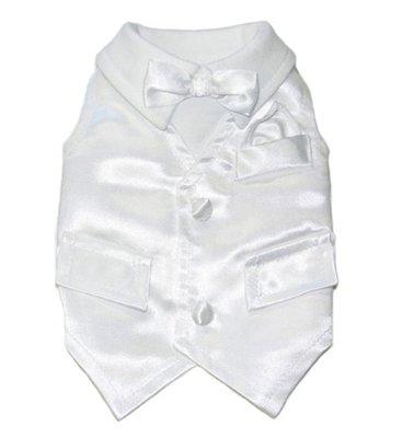 XL White Tux Dos Shirt Vest