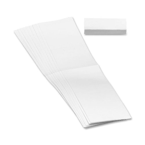 Smead Replacement Insert for Poly Tab, Blank, 1/5-Cut, White, 100 Pack (68620)