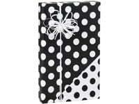 Black & White REVERSIBLE Polka Dot Gift Wrap Wrapping Paper - 16ft Roll