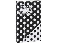 Black & White REVERSIBLE Polka Dot Gift Wrap Wrapping Paper - 16ft Roll by Buttons Bags and Bows