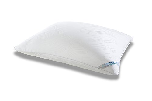 Tempur-Pedic Breeze 1.0 Cooling Pillow, Adaptable Personalized Comfort, Assembled in The USA, 5 YR Warranty, Queen - Foam Pillow Pedic Tempur