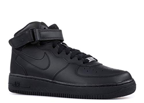 Niños Air Black Nike Zapatillas Baloncesto Mid De gs Para Force 1 ZvdBwdzq