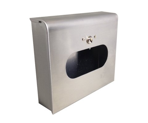 SB3000SS-5 Sanitary Napkin Tampon Disposal Bag Dispenser Kit - Box Format, Stainless Steel - 5 Full Sets