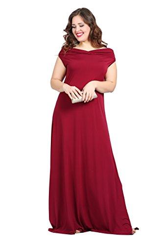 mujer borgoña Vestido corte mangas Sin para Angelino imperio 6W8wB4q4Y