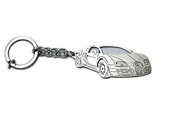 Llavero de acero inoxidable apto para Bugatti Veyron 2005 ...