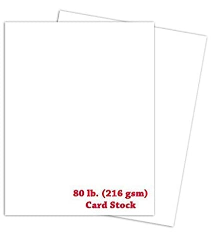 White Thick Paper Cardstock - for Brochure, Invitations, Stationary Printing | 80 lb Card