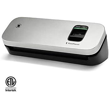 FoodSaver 31161366 Space Saving Food Vacuum Sealer, Silver