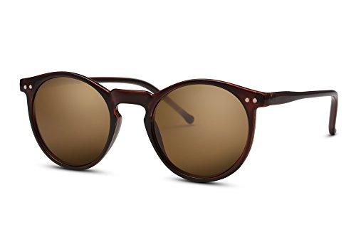 Cheapass Sunglasses Lunettes Rondes Brun Rétro Unisexe xAbPm9U