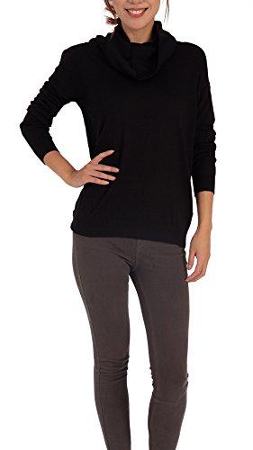 Women Cowl Neck Wool Knit Sweater – Premium Long Sleeve Soft Jumper Pullover Top ()