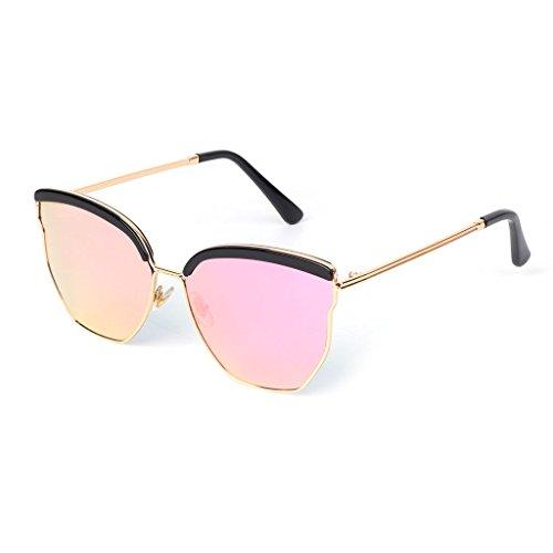 Gafas 1 grandes UV400 para sol marco de tonos vintage 5 lujo de lentes JAGENIE geométricas de con mujer daFHdq