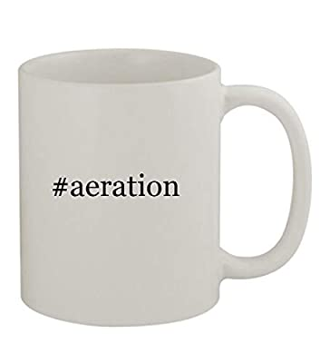 #aeration - 11oz Sturdy Hashtag Ceramic Coffee Cup Mug, White