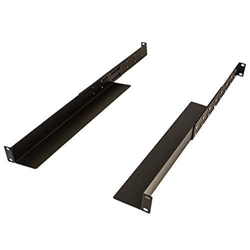 (NavePoint Adjustable Rack Mount Server Shelf Shelves Rail Rails 1U 4-Pack)
