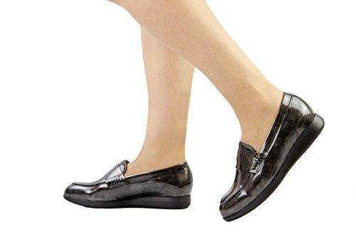 Gris Zapato Mujer Mocasín i Char 175634 Cómodo 17 Piesanto UAvwqg