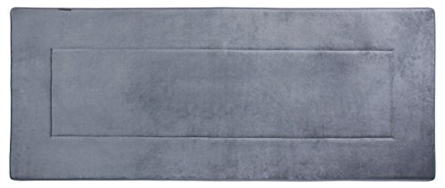 Bath Runner (Fabbrica Home Ultra-Soft HD Memory Foam Runner (2 feet by 5 feet) (Slate Gray))
