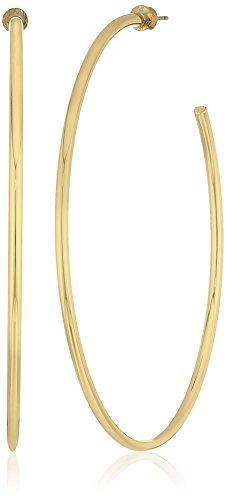 - Steve Madden Gold-Tone Post Hoop Drop Earrings