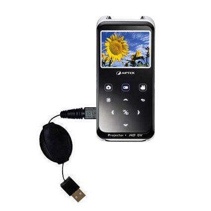 Das ausziehbare Lade über USB für Aiptek PocketCinema z20 Pro Erfüllt beide Funktionen