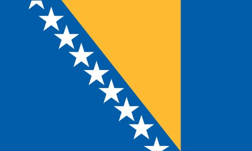 Valley Forge Flag 3-Foot by 5-Foot Nylon Bosnia and Herzegovina Flag ()