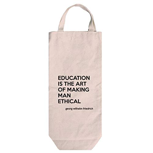 - Ethical (Georg Wilhelm Hegel) Cotton Canvas Wine Bag Tote With Handles