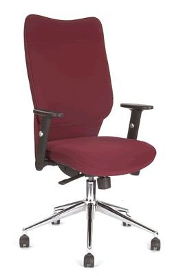 Chellgrove DP2111 High Back Office Chair In Red Fabric
