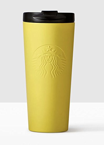 Starbucks Yellow Matte Stainless Steel Tumbler 16 Oz Double Wall by Starbucks