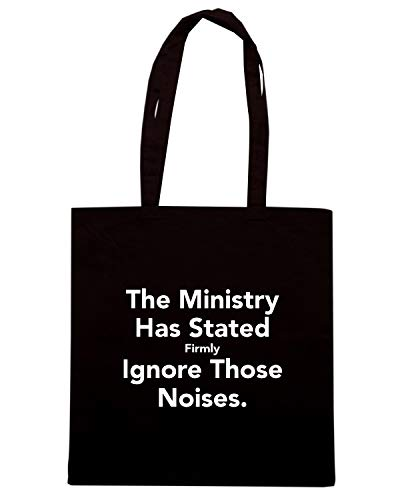 Speed Shirt Borsa Shopper Nera TKC4132 KEEP CALM AND THE MINISTRY HAS STATED FIRMLY IGNORE THOSE NOISES