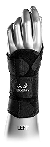 DP2 BioSkin 6-inch Wrist Brace (XL-XXL) LEFT HAND — Hypoallergenic Support for Carpal Tunnel, Tendonitis, and Arthritis Pain