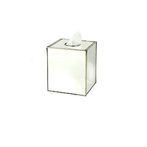Tissue Box Cover Boutique Tissue Size Bathroom Accessories Sets Mirrored by JM