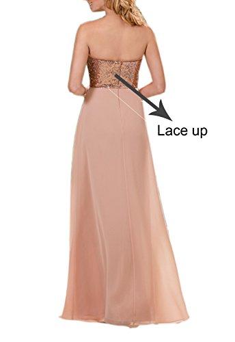 A Kleid Linie Damen Engerla Goldfarben Pink 7q5an0fx
