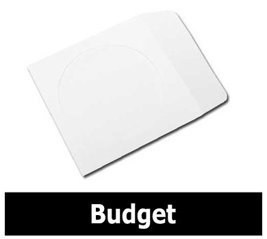 Mediaxpo Brand 10,000 BUDGET Paper CD Sleeves with Window & Flap 80g