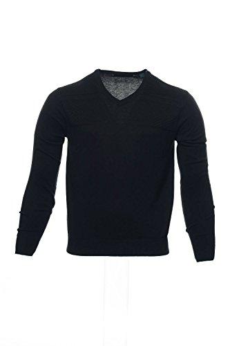 Sweater Herringbone V-neck (Perry Ellis Men's Textured V-Neck Sweater, Black X-Large)