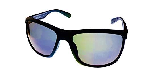 Timberland Mens Matte Black Rectangle Plastic Sunglass Smoke Lens TB7179. 2X ()