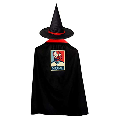 Nope Futurama Zoidberg Halloween Costumes Witch Wizard Kids Cloak Cape For Children Boys Girls -